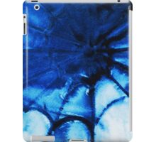 Abstract watercolor painting, spider's web iPad Case/Skin
