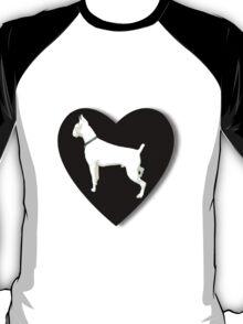 White boxer love  T-Shirt