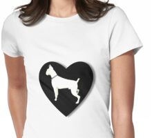 White boxer love  Womens Fitted T-Shirt