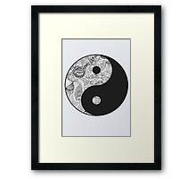 Yin and Yang Framed Print