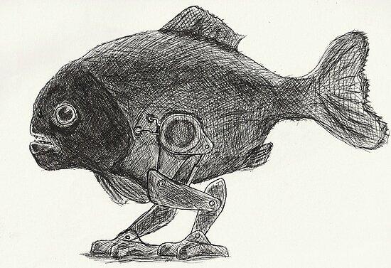 pygocentrus machina by skeletalbird