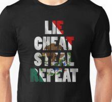 LIE CHEAT STEAL REPEAT Unisex T-Shirt