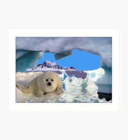 809-Innocence on Ice Art Print