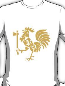 Kenyan Court of Arms Cockerel with Axe - Golden T-Shirt