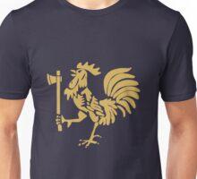 Kenyan Court of Arms Cockerel with Axe - Golden Unisex T-Shirt