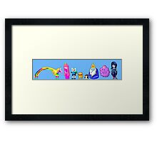 Adventure Time Pixelated Framed Print