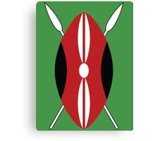 Kenyan Shield Canvas Print