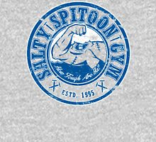 Salty Spitoon Gym- Blue Womens Fitted T-Shirt