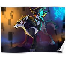 Twilight Princess - Wolf link and Midna Poster