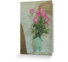Loretta and Roses Greeting Card