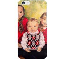 Christmas Siblings iPhone Case/Skin