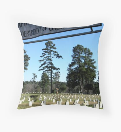 Prison Cemetery Throw Pillow