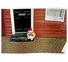 Whimsical Santa Head Poster