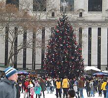 Christmas Tree, Bryant Park Skating Rink, Bryant Park, New York City   by lenspiro