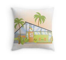 Tropical House Throw Pillow