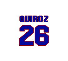 National baseball player Guillermo Quiroz jersey 26 Photographic Print