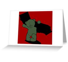 Carry the weight Greeting Card