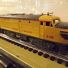 Model Lionel Union Pacific Railroad City of Los Angeles, 1936, New York Transit Museum Annex Holiday Show, New York City  by lenspiro