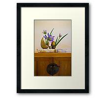 Ikebana Flower Arrangement Photo Framed Print