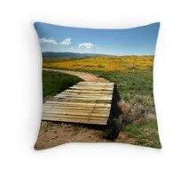 GoldFields and Poppies Throw Pillow