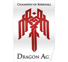 Champion of Kirkwall Dragon Age 2 Poster