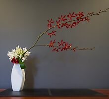 Christmas Themed Ikebana Flower Arrangement Photo by Alexander Evans