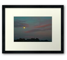 Moon Over the Organs Framed Print