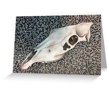 Skull with Vines Greeting Card