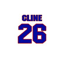 National baseball player Ty Cline jersey 26 Photographic Print