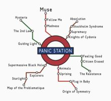 Muse - Panic Station Underground Map by Jonnyfez