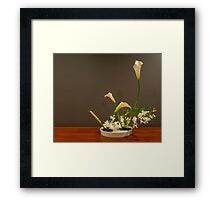 Ikebana flower arrangement - lillies & orchids Framed Print