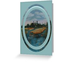 Between two Rivers Greeting Card