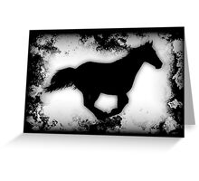 Western-look Galloping Horse Silhouette Greeting Card