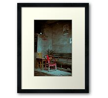 Red Chair Framed Print