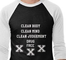 Straight Edge Baseball Raglan Men's Baseball ¾ T-Shirt