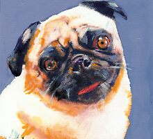 Blue Boy the pug by RD Riccoboni by RDRiccoboni