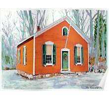 Little Red School House New Canaan Connecticut  Poster