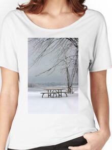 Happy Frosty Beach, dedicated to Peace Women's Relaxed Fit T-Shirt