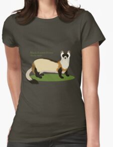 Black-Footed Ferret Womens Fitted T-Shirt
