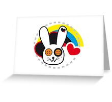 usagi no atama wa totemo kawaii desu ne! Greeting Card