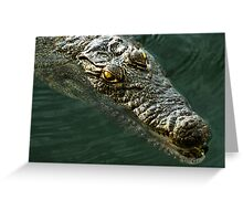 African Crocodile Greeting Card