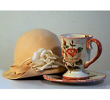 Cup & Hat Photographic Print