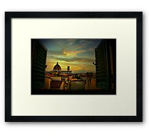 A Window on Florence Framed Print
