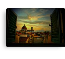 A Window on Florence Canvas Print