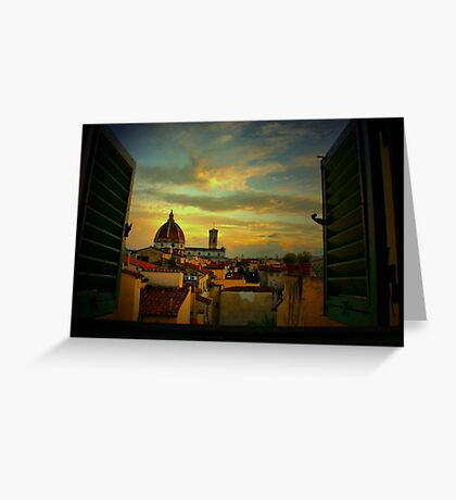 A Window on Florence Greeting Card