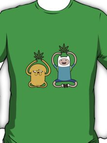 "Finn and Jake in ""Medicated Meditation"" T-Shirt"