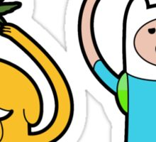 "Finn and Jake in ""Medicated Meditation"" Sticker"