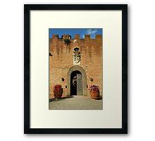 Ingresso del castello Framed Print