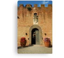 Ingresso del castello Canvas Print
