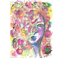the girl behind the flowers Photographic Print